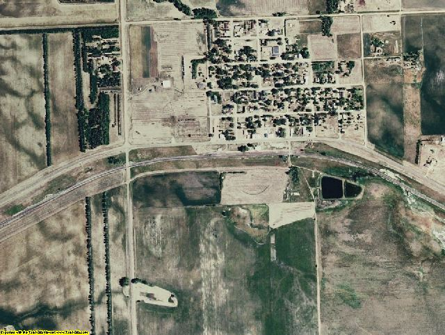Stark County, ND aerial photography detail