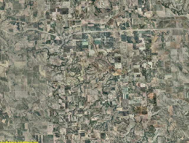 Stark County, North Dakota aerial photography