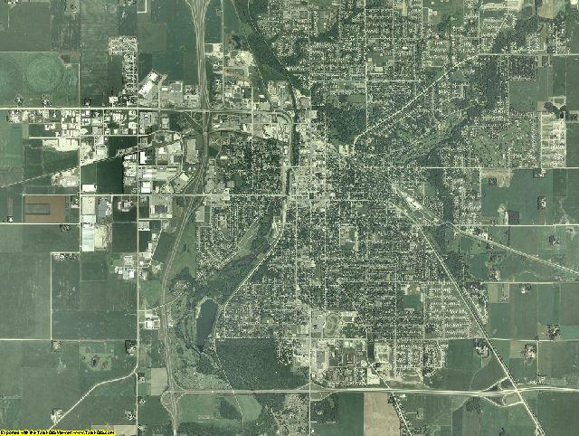 Steele County, Minnesota aerial photography