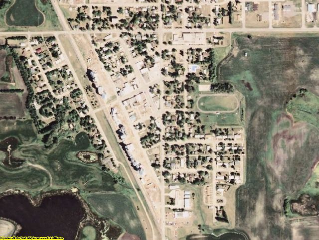 Steele County, ND aerial photography detail