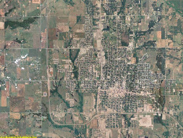 Stephens County, Oklahoma aerial photography