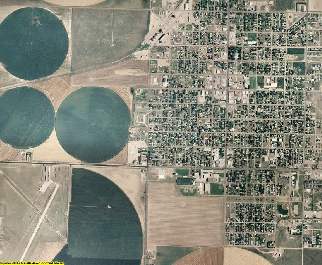 Stevens County, Kansas aerial photography