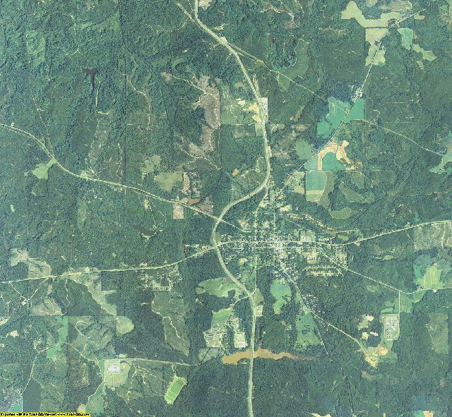 Stewart County, Georgia aerial photography