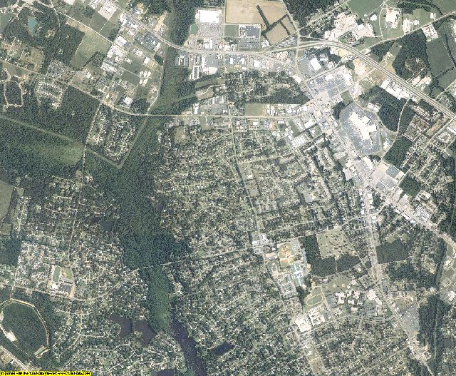 Sumter County, South Carolina aerial photography