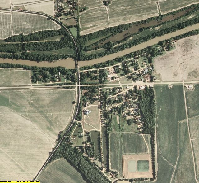 Tallahatchie County, MS aerial photography detail