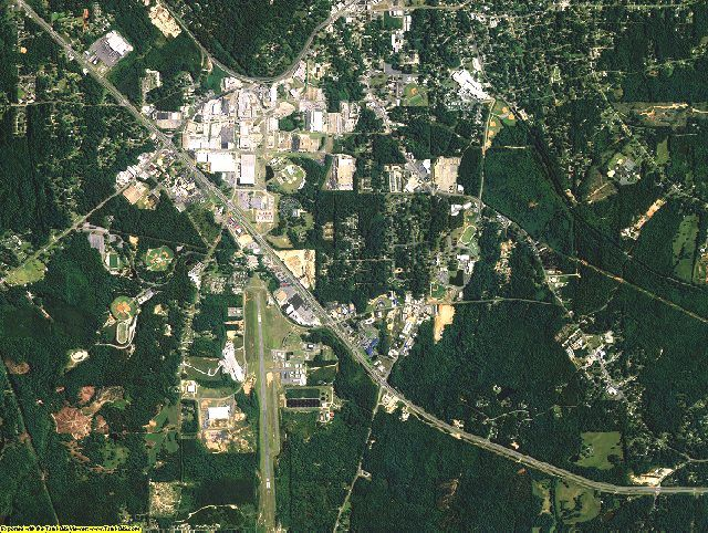 Tallapoosa County, Alabama aerial photography