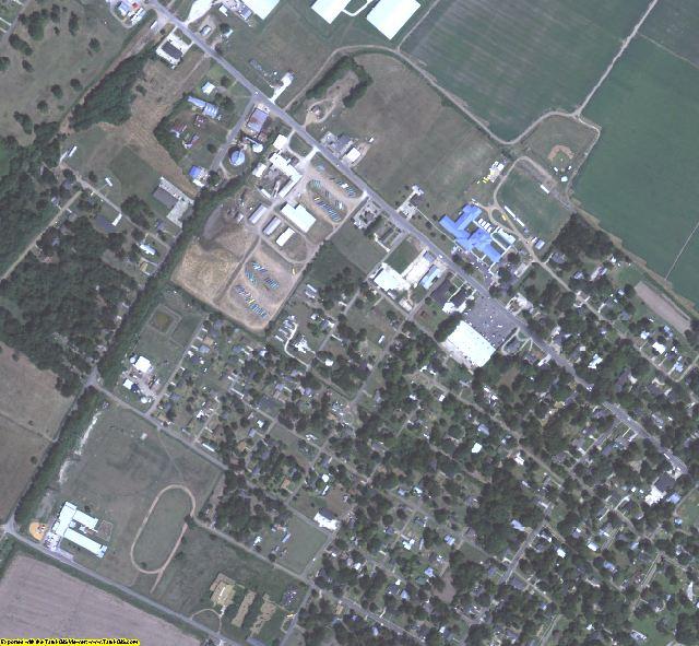 Tensas County, LA aerial photography detail