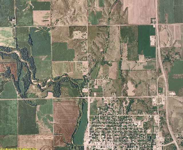 Thayer County, Nebraska aerial photography