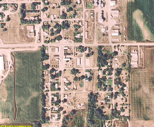 Thurston County, NE aerial photography detail