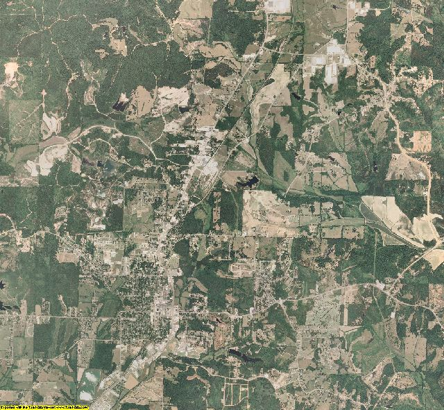 Tippah County, Mississippi aerial photography