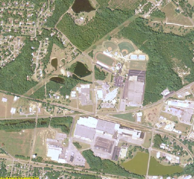 Toombs County, GA aerial photography detail