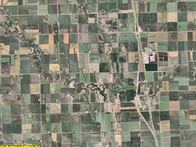 Traill County, North Dakota aerial photography