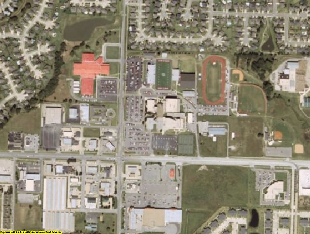 Tulsa County, OK aerial photography detail