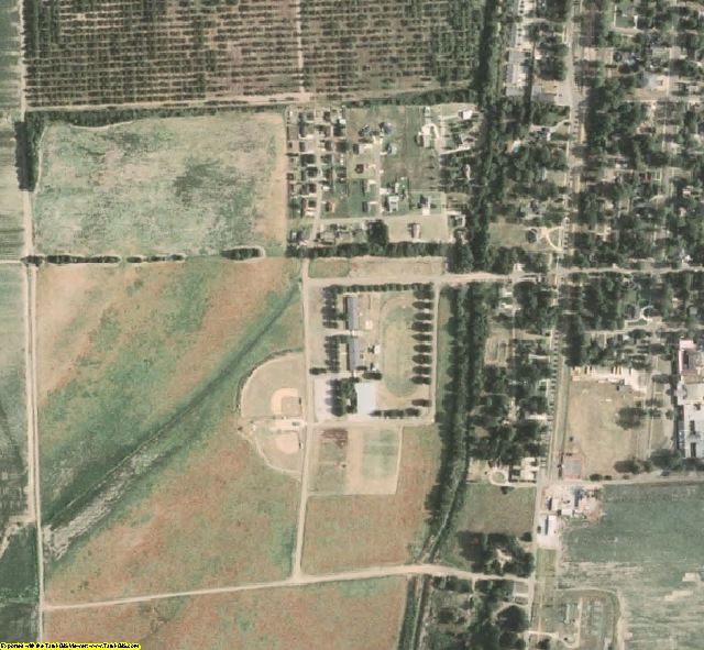 Tunica County, MS aerial photography detail