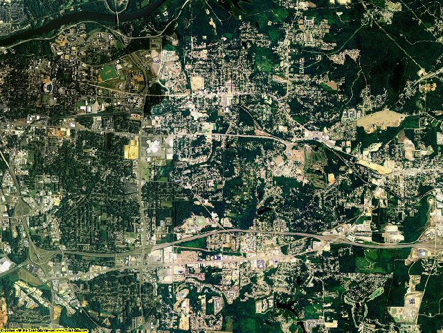 Tuscaloosa County, Alabama aerial photography