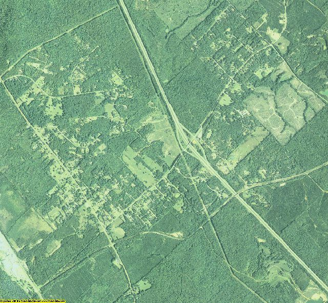 Twiggs County, Georgia aerial photography