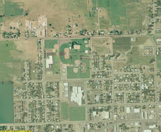 Uintah County, UT aerial photography detail