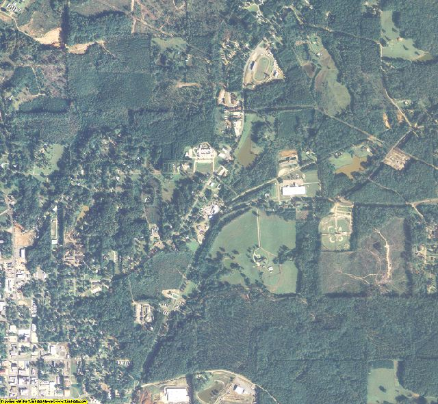Union County, LA aerial photography detail
