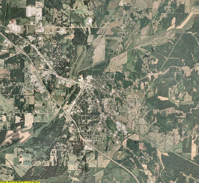 Union County, Mississippi aerial photography
