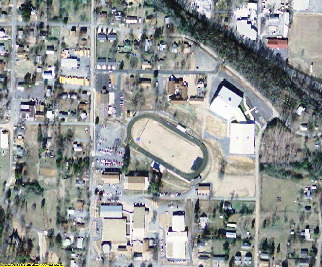 Van Buren County, AR aerial photography detail