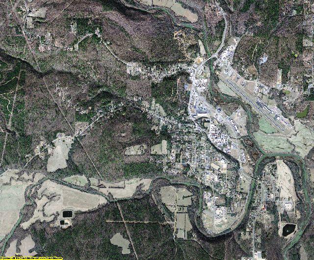 Van Buren County, Arkansas aerial photography