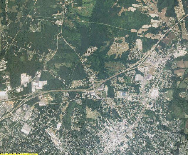 Vance County, North Carolina aerial photography