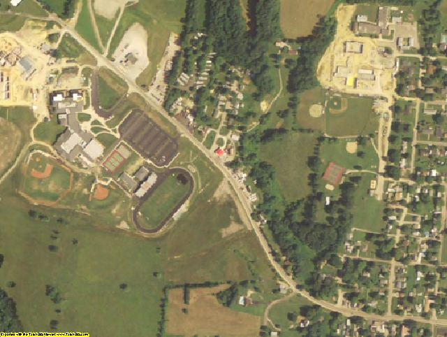 Vinton County, OH aerial photography detail