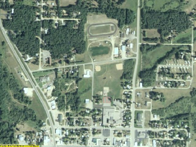 Wadena County, MN aerial photography detail