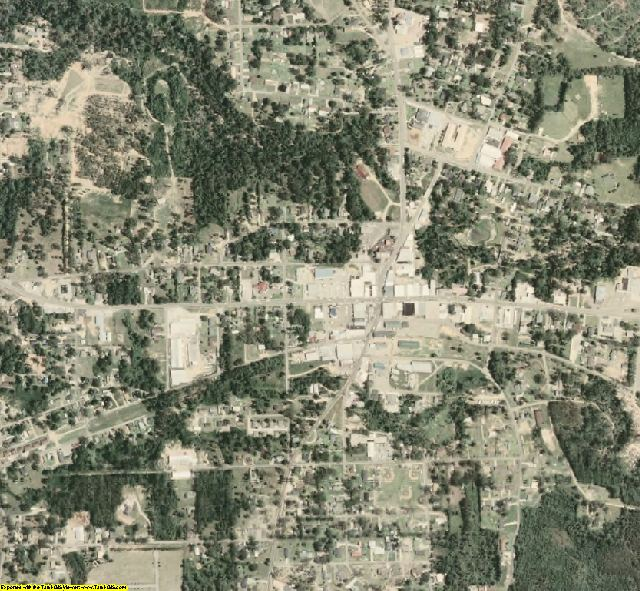 Walthall County, MS aerial photography detail