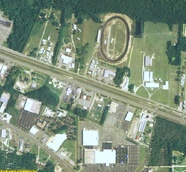 Ware County, GA aerial photography detail
