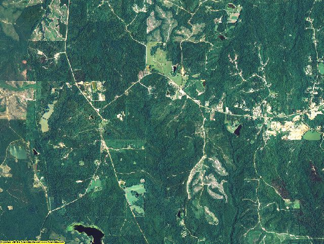 Washington County, Alabama aerial photography
