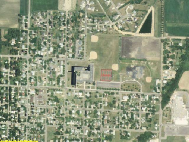 Watonwan County, MN aerial photography detail