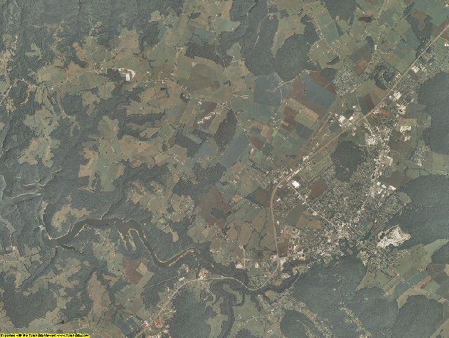 Wayne County, Kentucky aerial photography