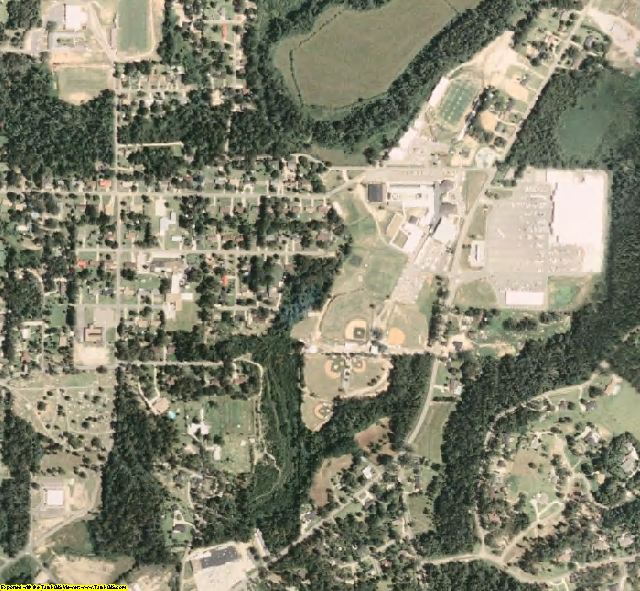 Wayne County, MS aerial photography detail
