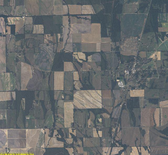 West Carroll County, Louisiana aerial photography
