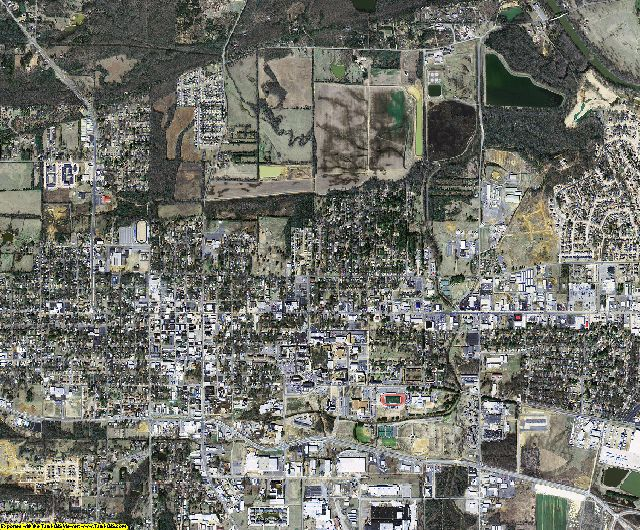 White County, Arkansas aerial photography