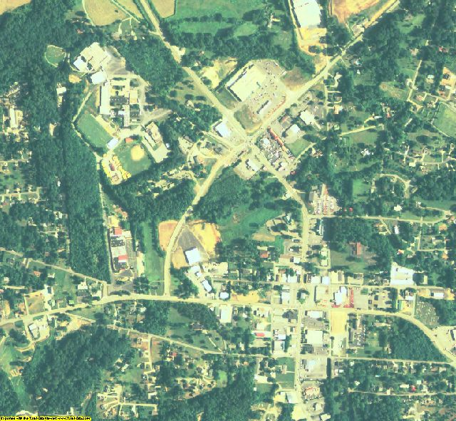 White County, GA aerial photography detail