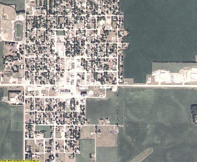 Winnebago County, Iowa aerial photography