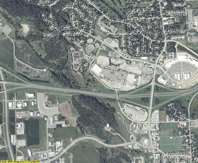 Woodbury County, Iowa aerial photography