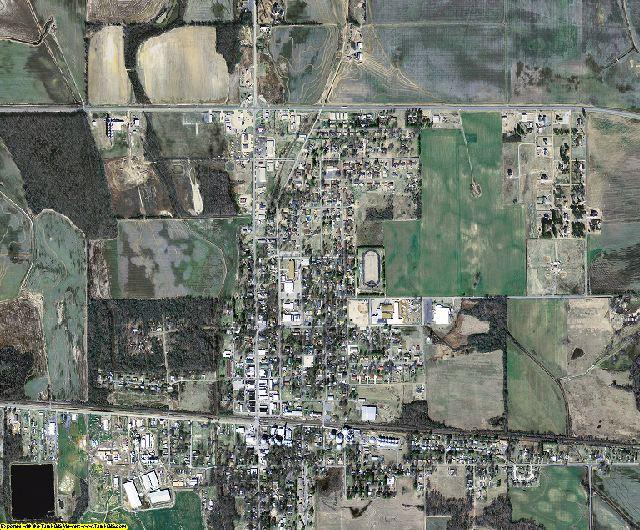 Woodruff County, Arkansas aerial photography