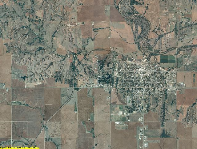 Woods County, Oklahoma aerial photography