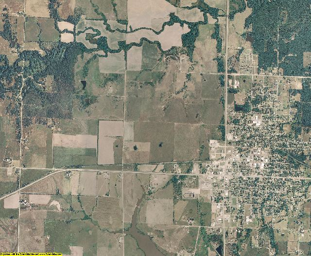 Woodson County, Kansas aerial photography