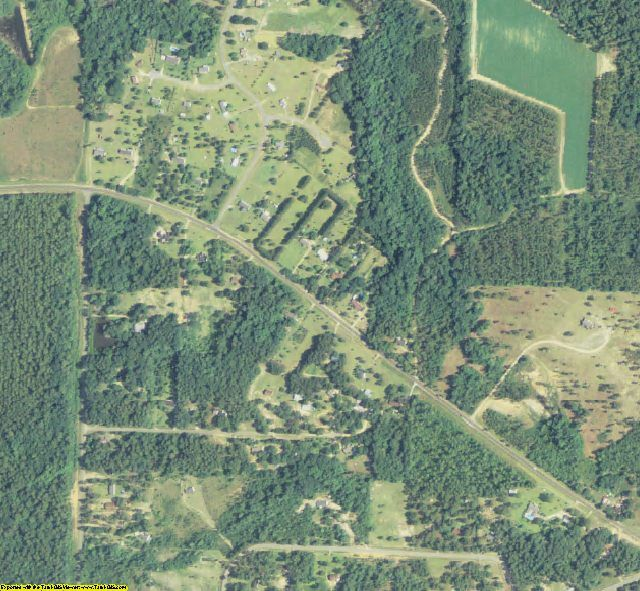 Worth County, GA aerial photography detail