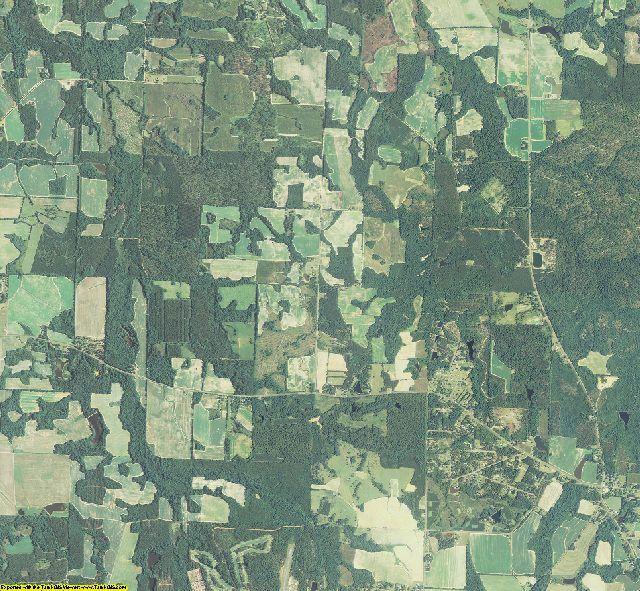 Worth County, Georgia aerial photography