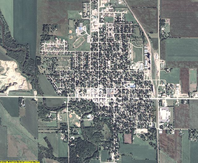 Worth County, Iowa aerial photography