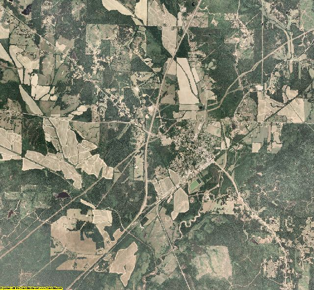 Yalobusha County, Mississippi aerial photography