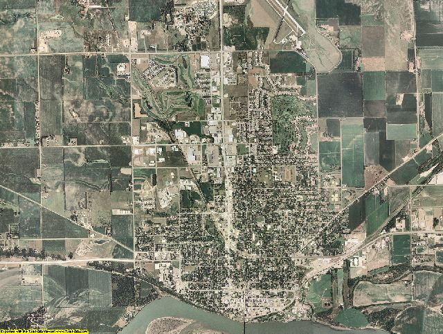Yankton County, South Dakota aerial photography