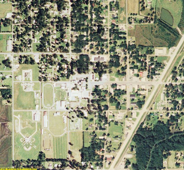 Allen County, LA aerial photography detail