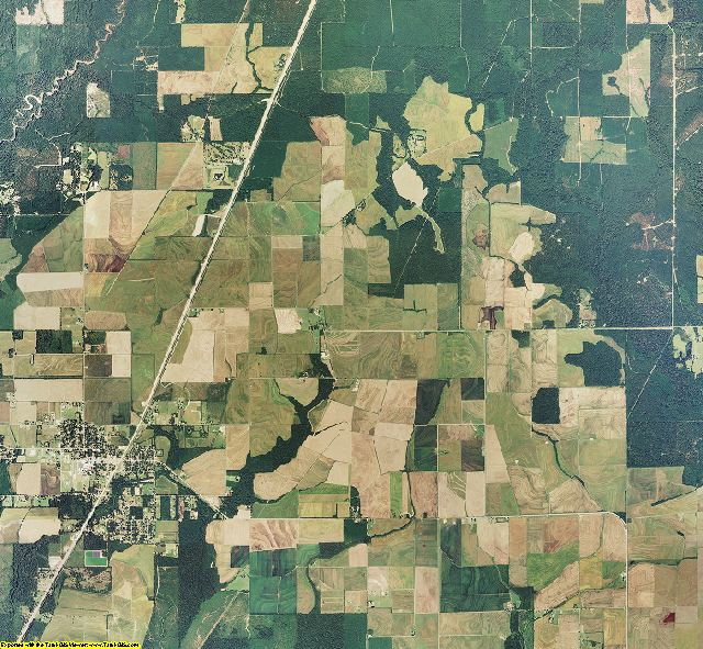 Allen County, Louisiana aerial photography