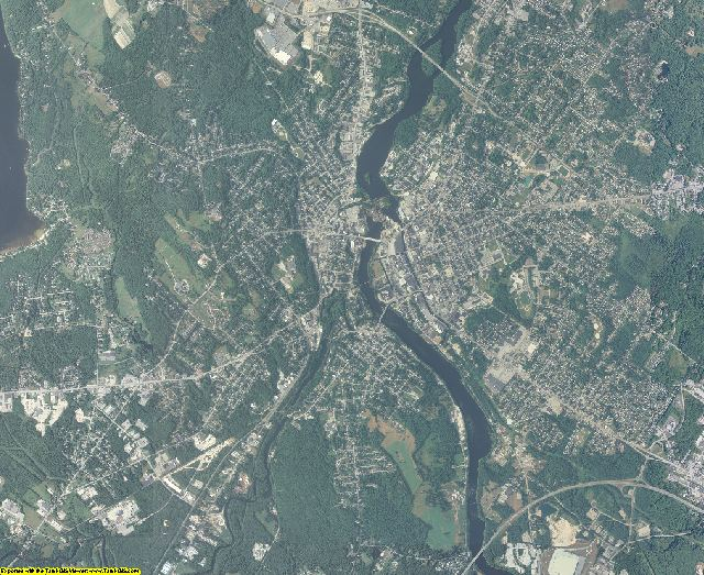 Androscoggin County, Maine aerial photography